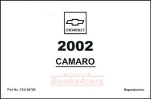 camaro 2002 chevrolet owners manual owner s book ebay rh ebay com 2002 chevrolet cavalier owner's manual 2002 chevrolet s10 service manual