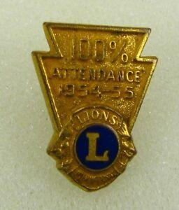 Leones-Club-Internacional-Vintage-Asistencia-Premio-1954-55-Member-Pin