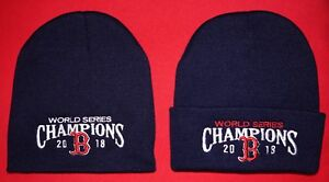 644137cb8690e Boston Red Sox 2018 World Series Champs Winter KNIT HATS (2 Pack ...