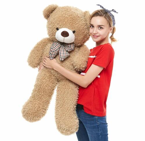 Washable Giant Teddy Bear Plush Stuffed Animals Big Footprints 39 Inches Cuddly