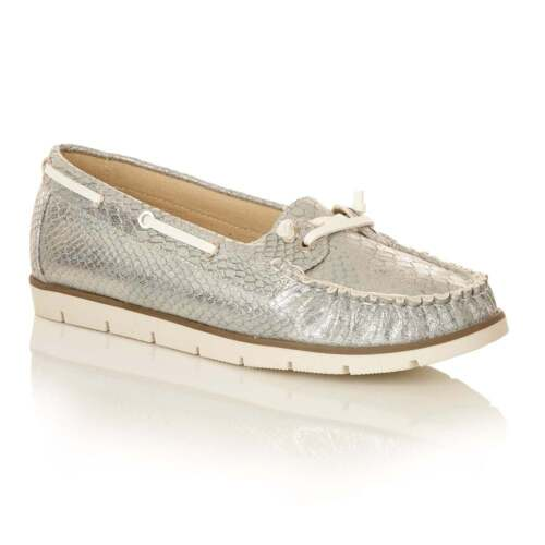 7 Metallic Uk Dolcis Shoes Loafers Flat Silver Penny Flats Kassidy Women's qHfAHv7