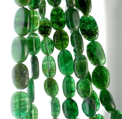 8X4-10X4MM GREEN MOSS AVENTURINE GEMSTONE GREEN RECTANGLE TUBE LOOSE BEADS 14/""