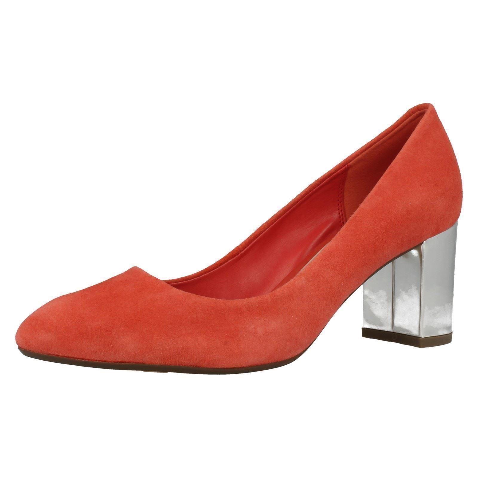 Damas Clarks Bloque Talón Puntera en Punta Inteligentes resbalón en el Tribunal Zapatos feliz en la nube