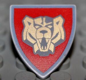 LeGo-Castle-Santis-Red-Triangular-Shield-Knights-Kingdom-2-w-Bear-Pattern-NEW
