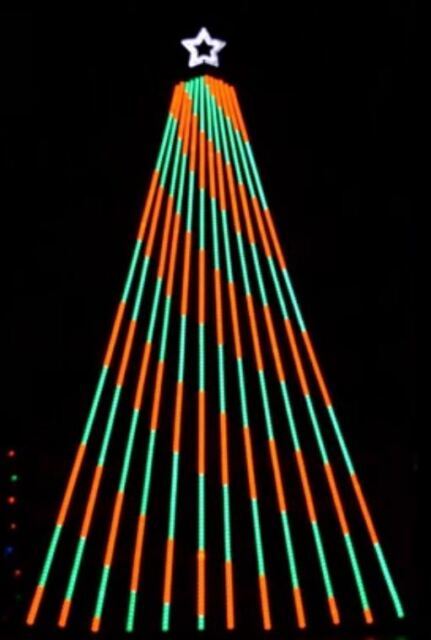 LIGHTORAMA CHRISTMAS SEQUENCE to WISH LISZT by TSO for 12 CCR SMART PIXEL TREE