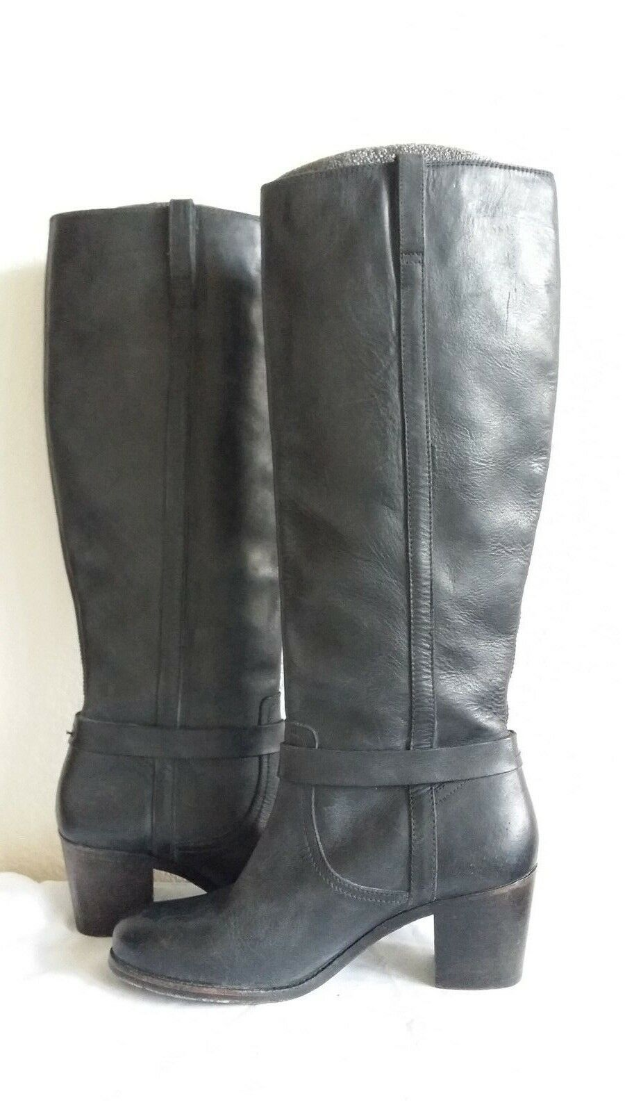 New Frye mqlorie knotted tall leather RT boots. Sz8.5. RT leather 418. c32908