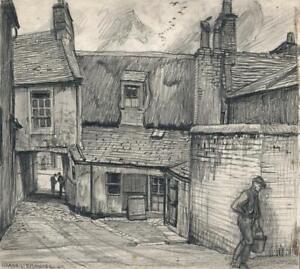 FRANK LEWIS EMANUEL (1865-1948) Pencil Drawing AYR SCOTLAND - 20TH CENTURY