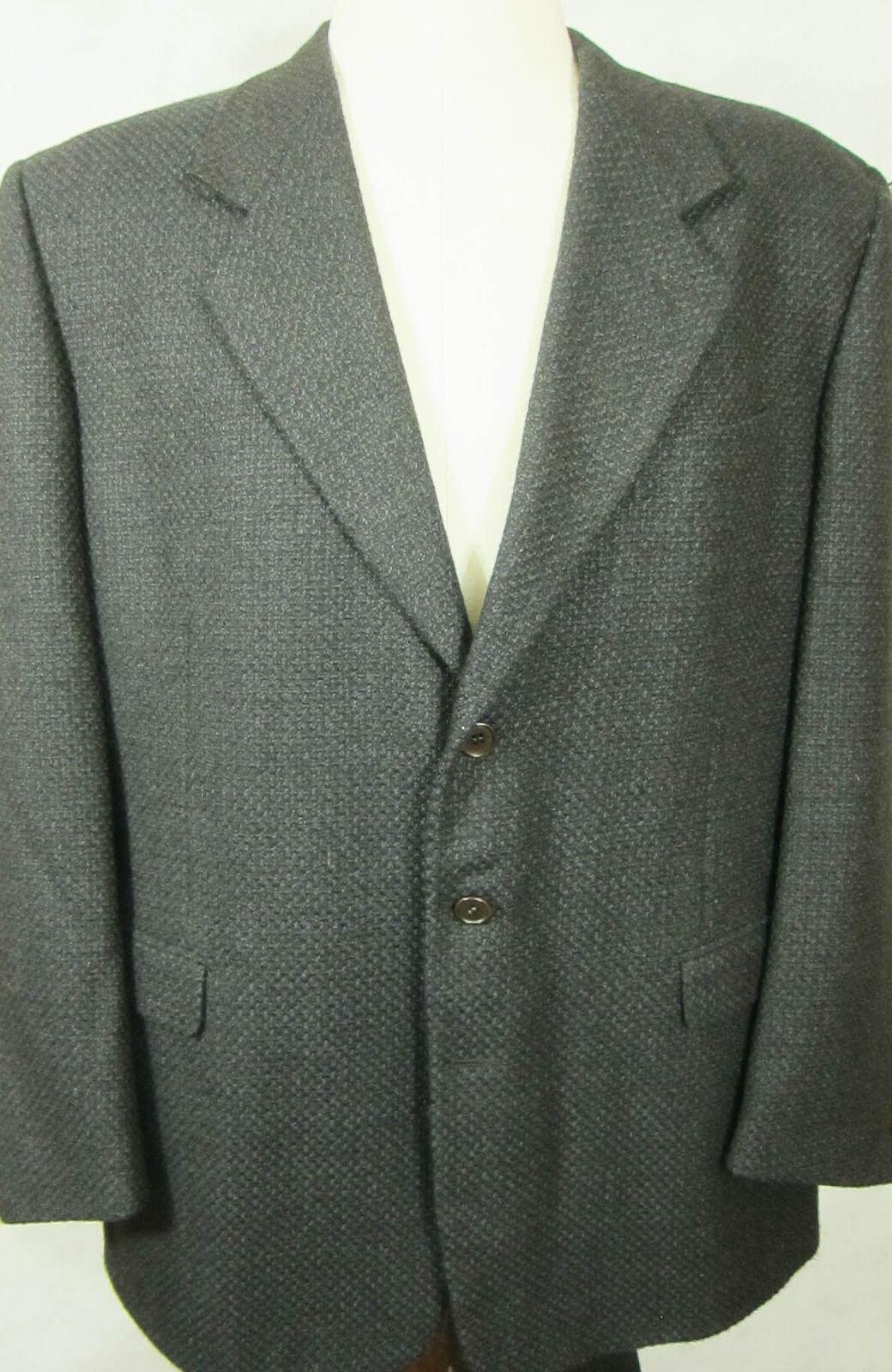 GORGEOUS Pal Zileri Dark grau With Blau Braun Heavy Wool Sport Coat 46R