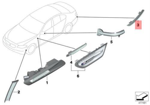 Genuine BMW F11 F11N Wagon Rear Reflector Rear Right OEM 63147210796