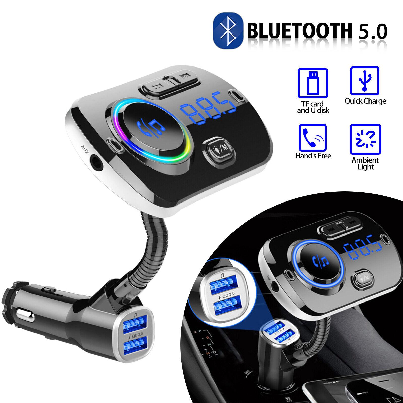 Bluetooth In Car Wireless FM Transmitter MP3 Radio Adapter C