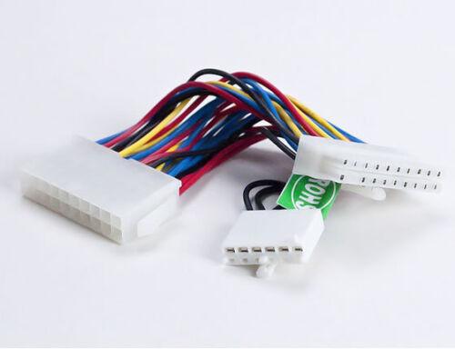 "Athena Power CABLE-DELL-X ATX 6/"" 20-Pin to Dell ATX 20-Pin /& AUX 6-Pin"