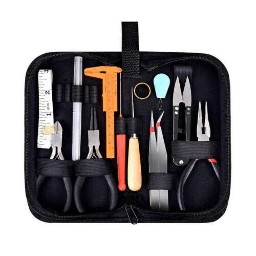 19 pcs Outils de Fabrication de Bijoux Kit Avec Étui de Rangement Fermeture 3L