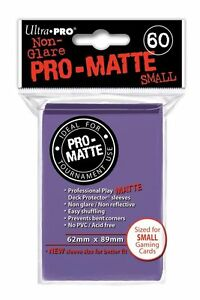 180-3pk-Ultra-Pro-Pro-Matte-Small-Mini-Deck-Protector-Card-Game-Sleeves-Purple