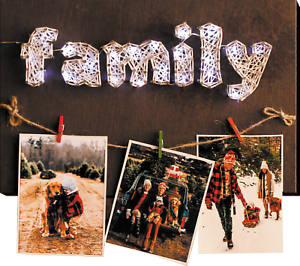 "String Art Creative DIY Kit /""Happy Family/"" 7.5/""х11.4/"""