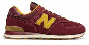 new styles 2e47f 4785b Details about New Balance Men's 574 Shoes Classics Traditionnels Red with  Yellow ML574OTC
