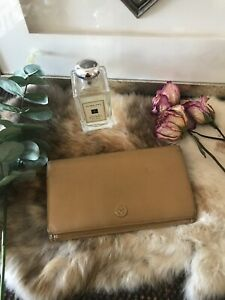 Authentic-CHANEL-Coco-Logo-Leather-Bifold-Beige-Long-Wallet-Vintage-CHIC