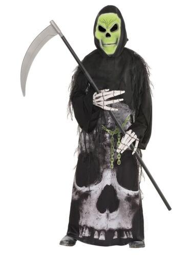 Child Costume da tristo mietitore incatenati Ragazzi FANTASMA HALLOWEEN BAMBINI MORTE Costume