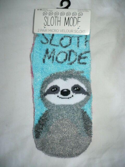 Micro Velour Women/'s Low Cut Cozy Socks 2 Pair Shoe Size 4-10 Otter This World