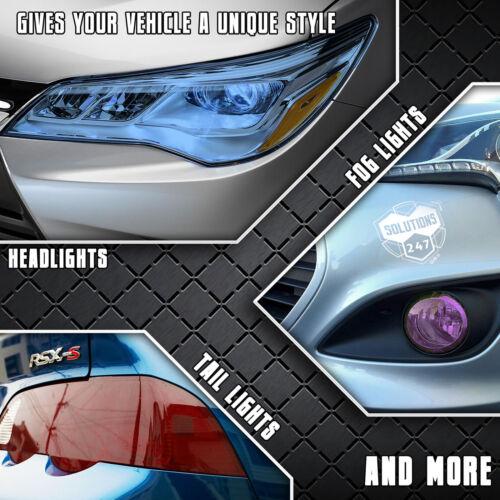 "Blue Protective Vinyl Film Tint Headlight Taillight Fog Light Wrap 12/""x60/"" Inch"