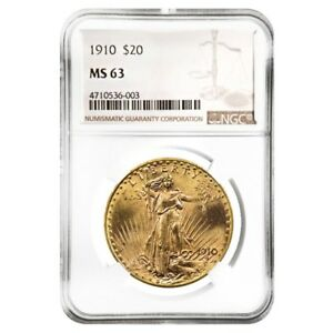 1910-20-Gold-Saint-Gaudens-Double-Eagle-Coin-NGC-MS-63