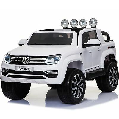 VW Amarok Licensed 4WD 24V Children's Battery Operated Ride On Jeep - White