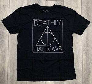 Unisex para hombre Harry Potter Deathly Hallows LOGO tshirt