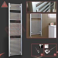 500mm (w) X 1800mm (h) Pre-filled Electric atlas Chrome Towel Rail - 600w