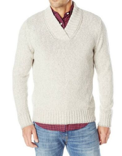 Gray L NWT Large Nautica Mens New $118 Thick Knit Pullover V-neck Sweater