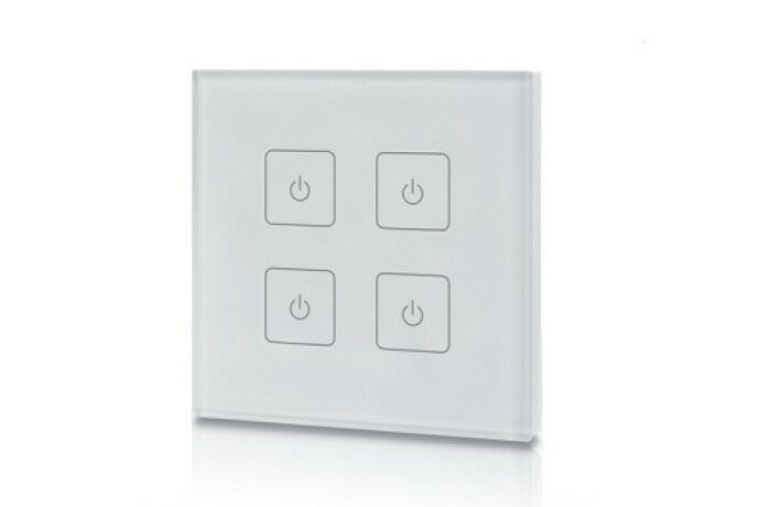 SET  1x LED-touch-Dimmer Wandeinbau 4 Zonen, 4x LED-Controller Empfänger 4x4A