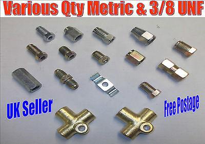 "3//16/"" T Piece /& 3 x Male 3//16/"" x 3//8/"" UNF Jaguar XJ6 XJS brake pipe nuts"