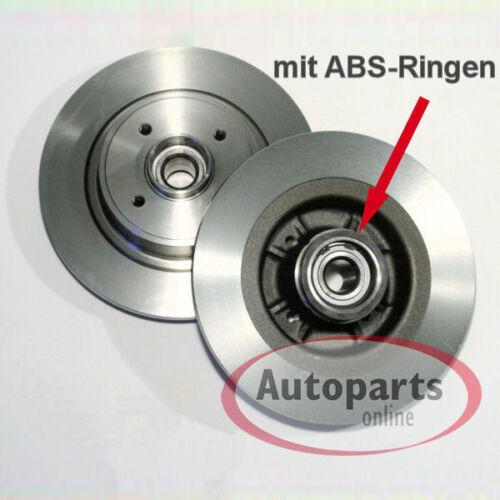 Peugeot 207 Bremsscheiben Bremsen Abs Ringe Radlager für hinten Hinterachse*