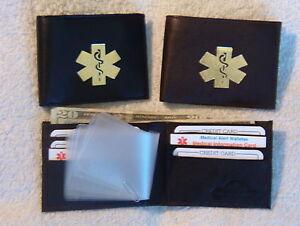 Slimfold-Billfold-bifold-leather-Medical-Wallets-black-or-brown