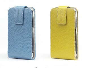 Contour-Folio-fits-iPod-Touch-2G-3G-Color-Leather-Case-Cover-Holder-Yellow-Blue