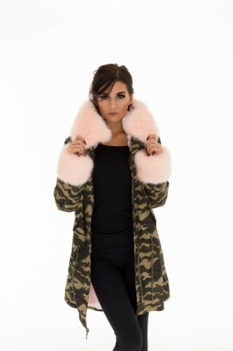 Womens Ladies Warm Winter Coats Puffer Fur Collar Hooded Jackets Parka All Sizes