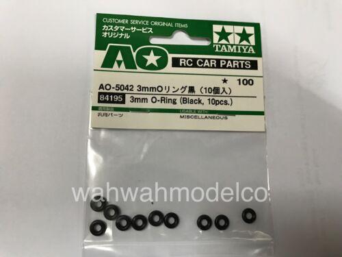 Tamiya 84195 RC 3mm O-Ring For 1//10 Car Body//Damper 1//14 Truck 10pcs,Black