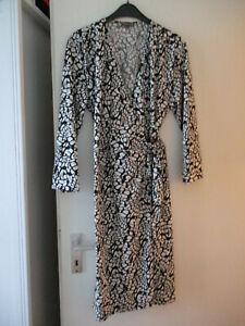 Schwarz-weißes Wickel-Kleid von Street One Gr. 44 | eBay