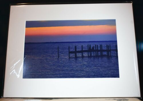 Outer Banks Duck Currituck Sound Sunset Print Picture 16x12 Matted Print