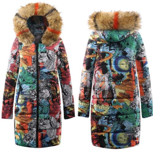 Damen Steppjacke Daunenjacke Winterjacke Mantel Parka Lang Jacke Kapuzenjacke