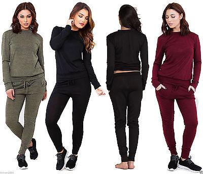 Original Womens Ladies Long Sleeved Jumper Sweatshirt Jogger Loungewear Tracksuit Set Extrem Effizient In Der WäRmeerhaltung