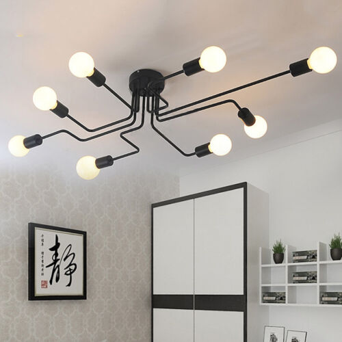 E27 Ceiling Lights Vintage Industrial Metal Pendant Lamp Cafe Bedroom 4//6//8 Way