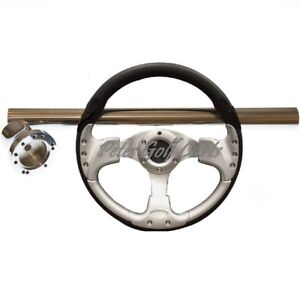 Details about Club Car Tempo Black and Silver Steering Wheel/Hub  Adapter/Chrome Cover Kit