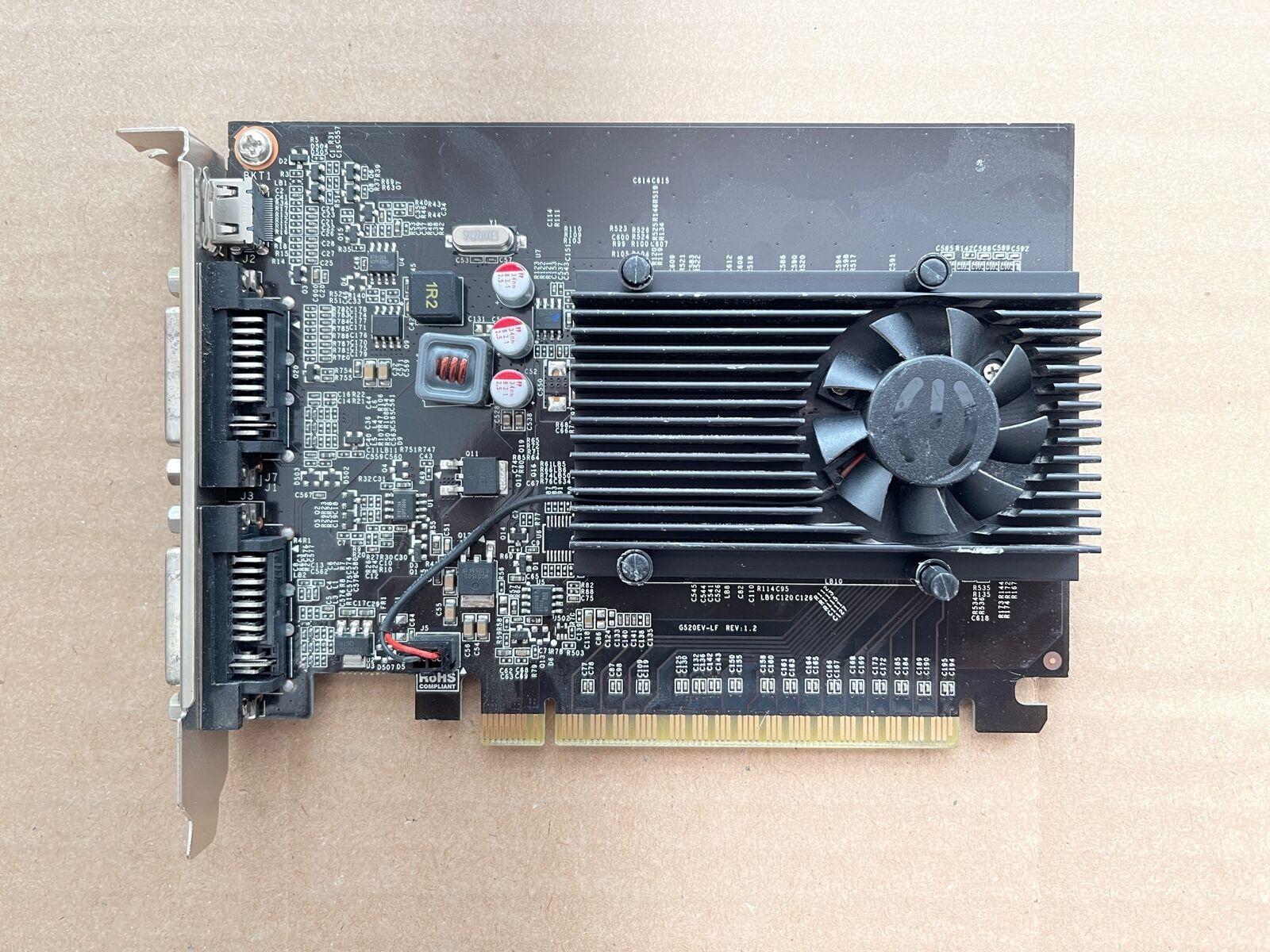 EVGA GEFORCE GT 610 1GB GDDR 3 、 デュアル DVI ミニHDMI ビデオカード 01G