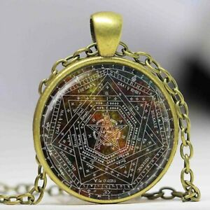Details about Sigil of Ameth Symbol Enochian Magic Pentagram Sacred  Geometry Pendant Necklace