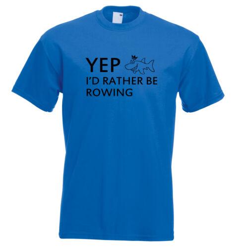 Juko Kids Yep I/'d Rather Be Rowing Funny T Shirt