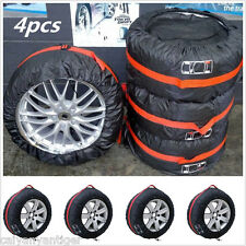 """4×Car Seasonal Spare Tyre Tire Protection Cover 13""""-19"""" Carry Tote Storage Bags"""