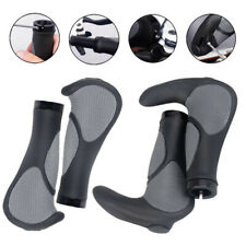 Rubber Horn Double Lock Handle Sleeve Handlebar Cover Bicycle Grips Anti-Slip