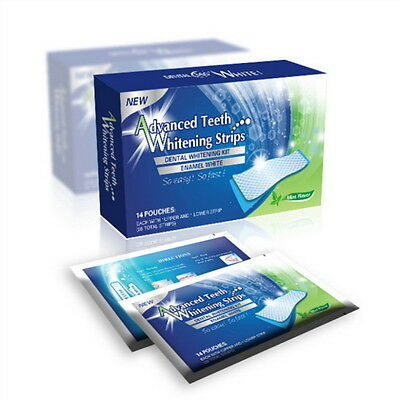 28 PROFESSIONAL HOME TEETH WHITENING STRIPS BLEACHING WHITER WHITESTRIPS FO