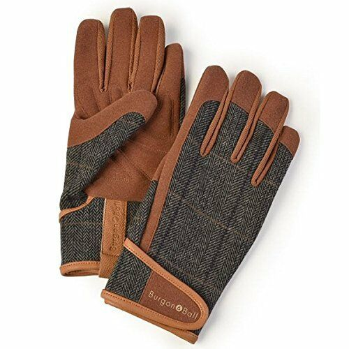 Burgon and Ball Gardening Gloves Men's - Dig The Glove Tweed Size M/L