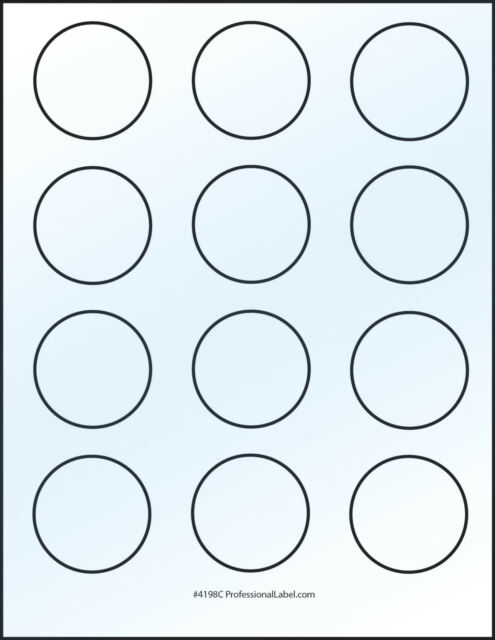 Glossy White Round Stickers 2 Inch Inkjet Printable Label 300 Labels 4198jg For Sale Online