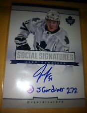13 Totally Certified Jake Gardiner Rare Social Signatures Auto Huge Maple Leafs